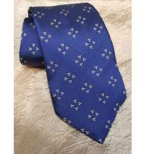 Seaward and Stearns Silk Tie Woven Blue Yellow